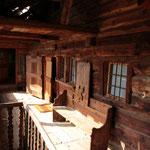 Wir übernachten in einem liebevoll renovierten alten Walser-Haus...