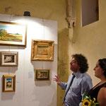 Sandalyon . Presentazione delle opere dell'artista Paola Puggioni da parte del critico d'arte, nonchè direttore del Museo del Territorio Sa Corona Arrubia, Dott.Paolo Sirena