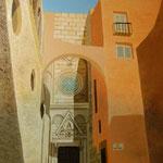 CAGLIARI, DUOMO ( entrata destra del transetto ) - olio su pannello telato 20 x 30 cm