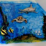 Blaue Fische brushen