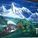 Eisenbahn auf Wand