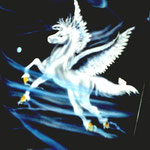 Pegasus auf Motorradtank