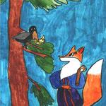 Алина Е., 4б кл. Ворона и Лисица