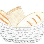 """Николай Рубцов. """"Хлеб"""". Рисовал Андрей И., 4б класс"""