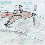 """""""Идёт война"""". Рисовал Дмитрий М., 2а класс"""