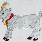 "Николай Рубцов. ""Коза"". Рисовал Тигран А., 1а класс"