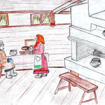 """Николай Рубцов. """"Хлеб"""". Рисовал Ярослав К., 2а класс"""