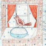 Дарина Б., 3б кл. А. Яшин. Покормите птиц зимой