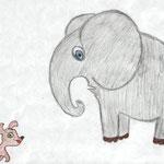 Иван Г., 3а кл. Слон и Моська