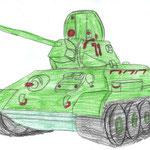 """""""Танк"""". Рисовал Тигран А., 1а класс"""