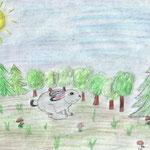 """Николай Рубцов. """"Про зайца"""". Рисовал Алексей М., 4а класс"""