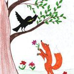 Милена Э., 4б кл. Ворона и Лмсица