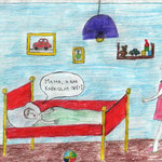 """Николай Рубцов. """"После посещения зоопарка"""". Рисовала Мария И., 2а класс"""
