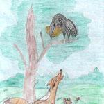 Артём Б., 3в кл. Ворона и Лисица