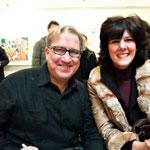 Con il grande artista Mark Kostabi