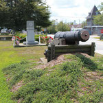 Bearberry planting around the cannon at Legion Park