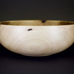 hand made wooden bowl from walnut wood