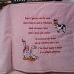 Cuscino libro personalizzato Beatrice pag 1