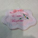 Fiocco nascita bimba con ricamo personalizzato