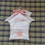 Fiocco nascita bimba casetta personalizzato