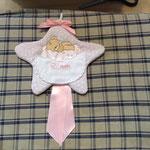 Fiocco nascita bimba stella personalizzato