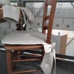 Particolare sedia collezione romantica