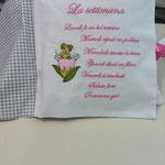 Cuscino libro personalizzato Margherita pag 3