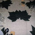 Particolare foglia avolo sala collezione autunno