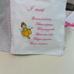 Cuscino libro personalizzato Margherita pag 1