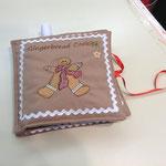 Libretto con ricetta biscotti gingerbread