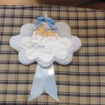 Fiocco nascita bimbo nuvoletta personalizzato