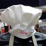Cappello da chef con ricamo nome
