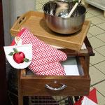 Particolare guanto da forno di cucina collezione rustica