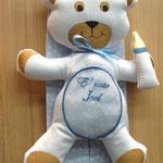 Orsetto nascita bimbo con ricamo personalizzato