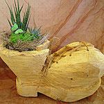 Holzschuh bepflanzt ( auf Vorbestellung)