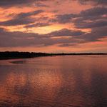 Sonnenuntergang am Strelasund. - Stralsund