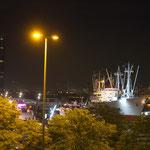 Abends am Hafen.