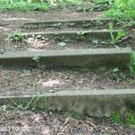 Über die Stufen...