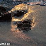 Sonnenuntergang am Strand von Limionas