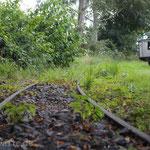 Schienen an der Dampfkleinbahn