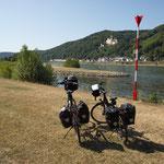 Nach 254 km am Ziel. Die Lahn mündet in den Rhein.
