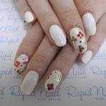 ホワイトワンカラーお花畑