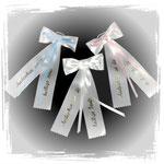 Taufmaschen für Taufkerzen in verschiedenen Farben