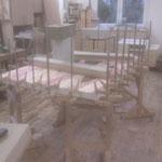 Tischlermeister Mike Gianfelici in seiner Werkstatt • bei der Herstellung/Vorbereitung von Wood-Cases für den Künstler Zsolt S. Deák