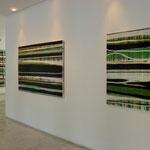 Monika Humm transition 1 und 2,  Ausstellungsansicht: Galerie Bezirk Oberbayern, 2011
