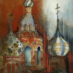Le Sang versé, pigments, acryliques sur papiers collés sur toile, craies, 92 x 60 cm, 2014