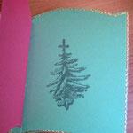Weihnachtsbuchkarte