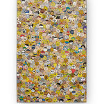 Smiley, acrylique sur bois (120x80 cm)- Bobo artist