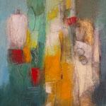 """""""Rencontre""""- Brigitte Rochas, acrylique sur toile""""  (61x 46cm)"""