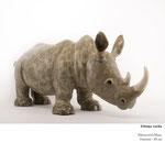 """""""Rhinocéros"""", Valérie Courtet, h 40 cm (sur commande)"""
